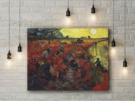 Vincent van Gogh: Red Vineyards at Arles. Fine Art Canvas.