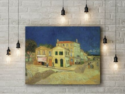 Vincent Van Gogh: The Street, the Yellow House. Fine Art Canvas.
