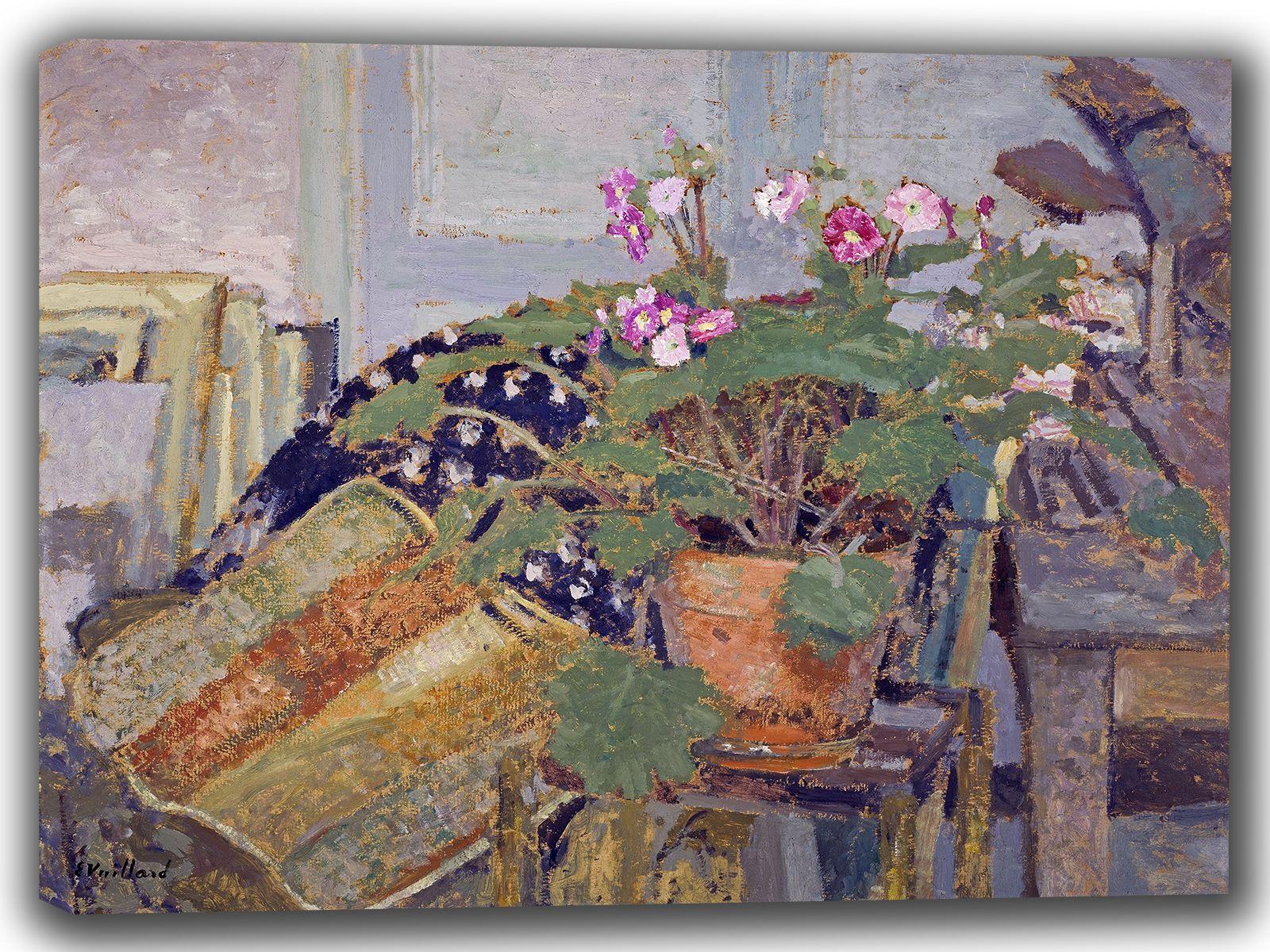 Vuillard, Edouard: Pot of Flowers. Fine Art Canvas. Sizes: A4/A3/A2/A1 (002202)