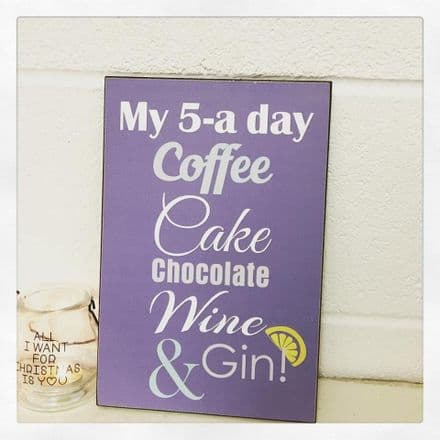 30% off My 5 A Day Wall Sign