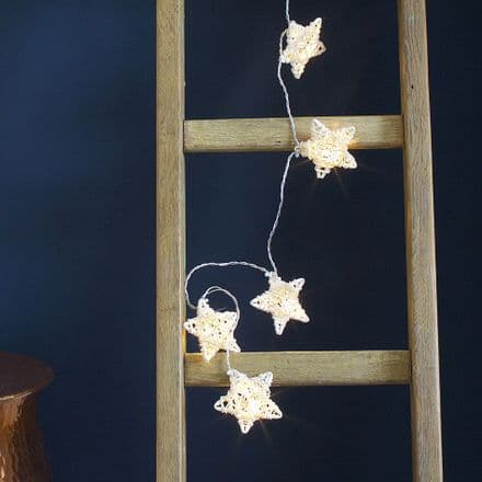 30% OFF Rattan Star LED string lights garland