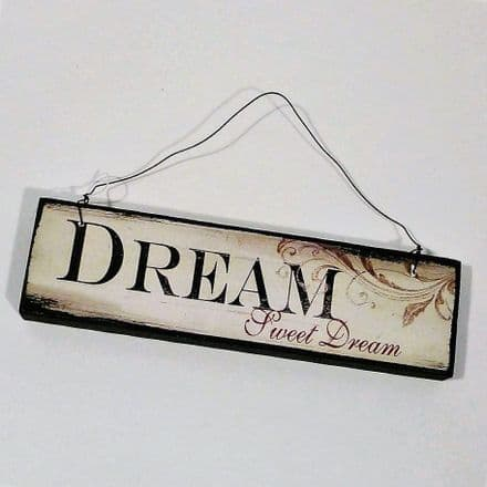 40% off Small Hanging Wooden Sign - Dream Sweet Dream