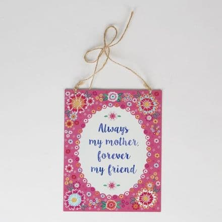 50% OFF Always My Mother Flower Pop Tin Plaque