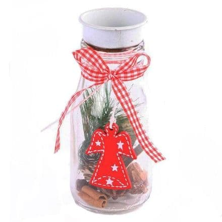 50% off Decorated Glass Jar T Light With Angel