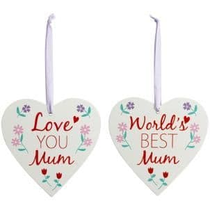 50% OFF Floral Mum Hanging Hearts
