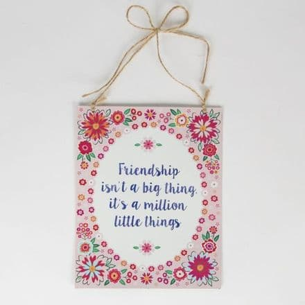 50% OFF Friendship is a Million Flower Pop Tin Plaque
