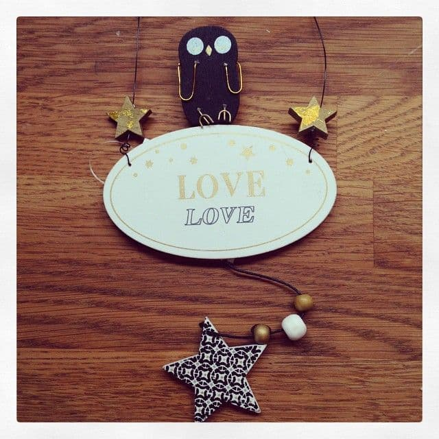 50% OFF Hanging Wooden Love Sign With Cute Owl