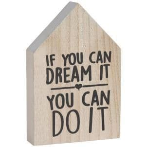 50% OFF House Shape You Can Do It Sign