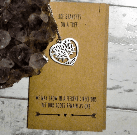 50% offKeepsake necklace on card - Like Branches On A Tree