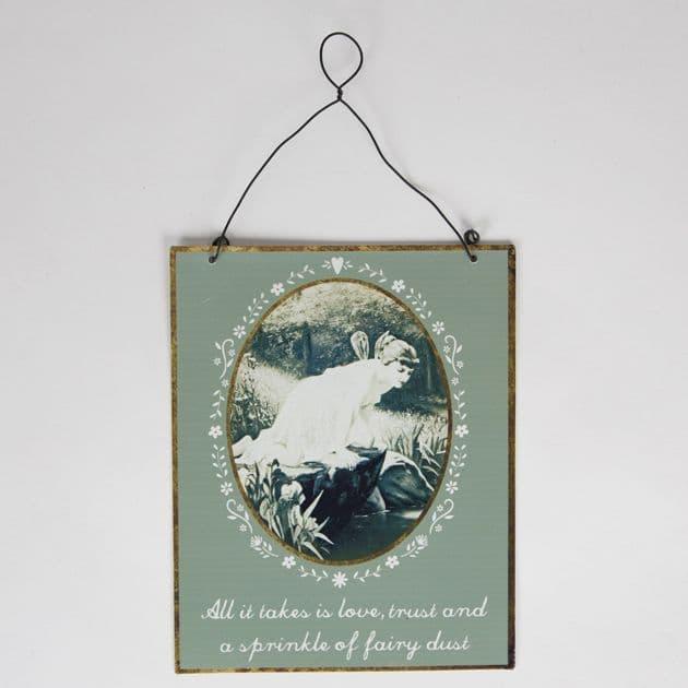 50% off Sprinkle of Fairy Dust Vintage Fairies Tin Plaque