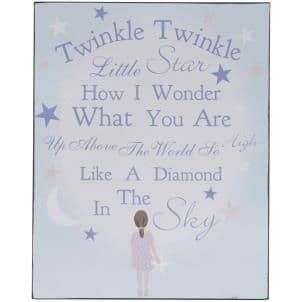 50% OFF Twinkle Twinkle Little Star Pretty Hanging Sign