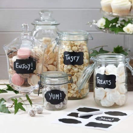 50% off Vintage Chalk Board Sticker Labels