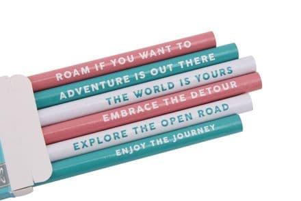 6 Adventure pencils