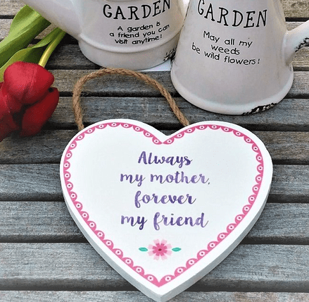 Always my mother Flower Pop heart Plaque