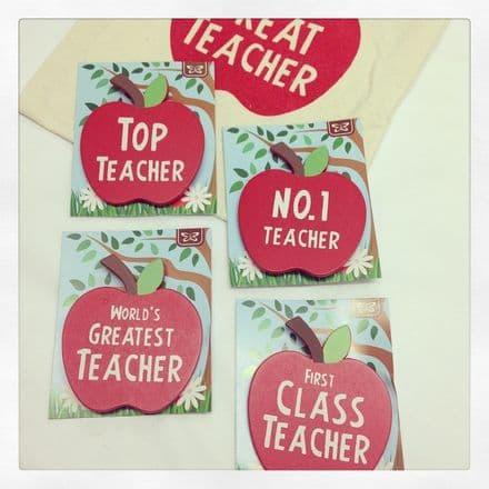 Apple Teacher Badges Brooch