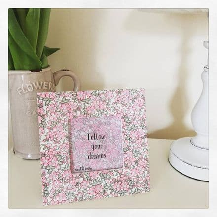 Beautiful Floral Square Frame By Sass & Belle Follow Your Dreams