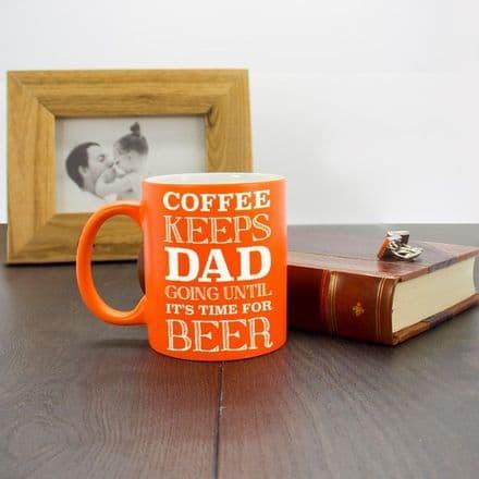 Coffee & Beer Loving, Dad Mug