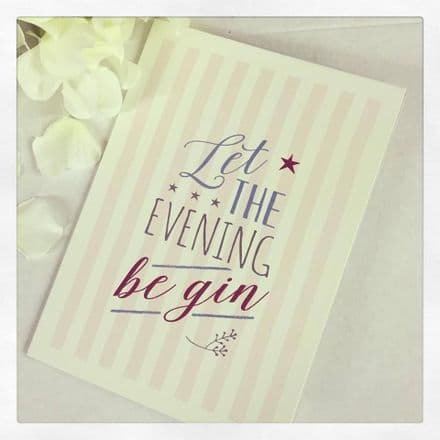 East Of India Card Let The Evening Be Gin