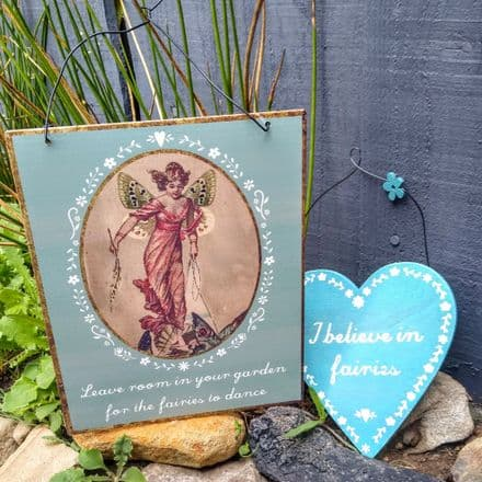 Fairy heart and metal sign