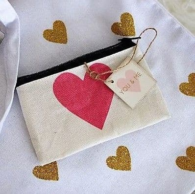 Heart canvas  purse