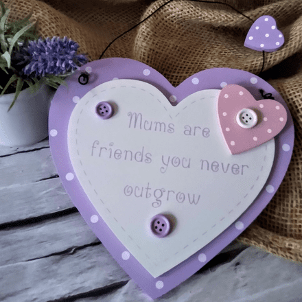 Mum pastel heart plaque
