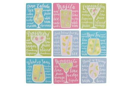 Over 30% off Cocktail recipe coasters