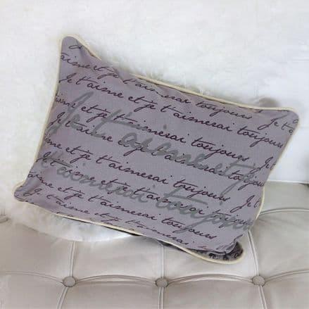 OVER 50% OFF Je t'aime script Cushion