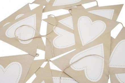 Over 60% off Love Heart Craft Paper Bunting