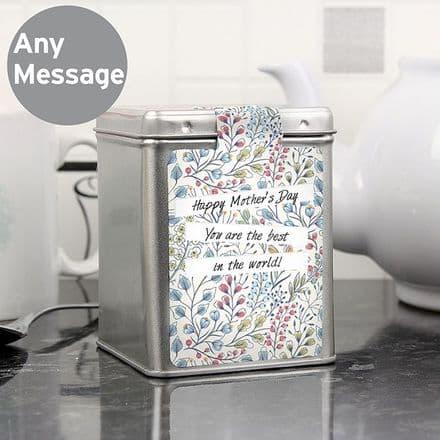 Personalised Botanical Tea & Tin