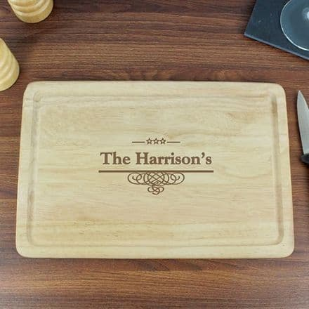 Personalised Decorative Large Chopping Board