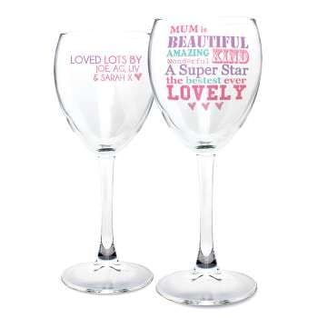 Personalised She Is... Wine Glass
