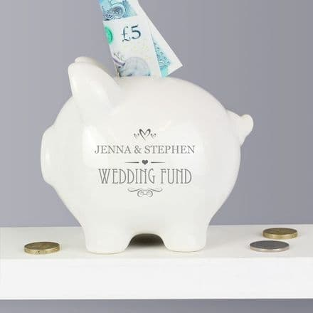 Personalised Small Hearts Piggy Bank