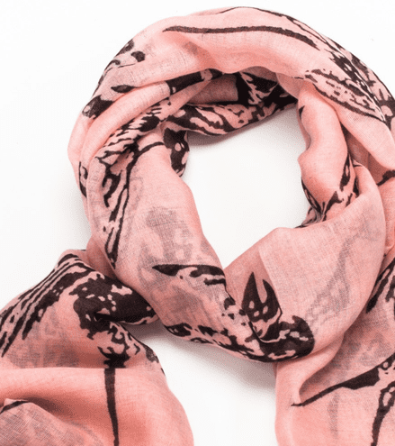 Reduced Swallow Print Large Scarf