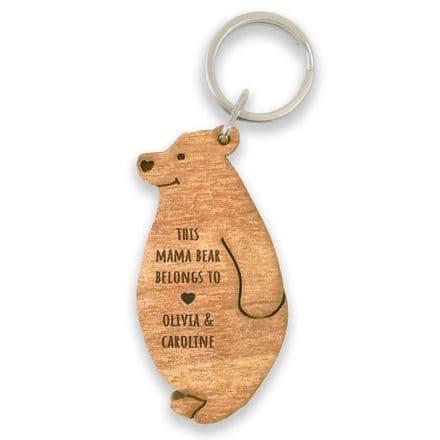 This Mama Bear belongs to - Keyring