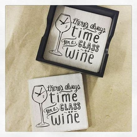 Time For Wine Coasters (set of 4)