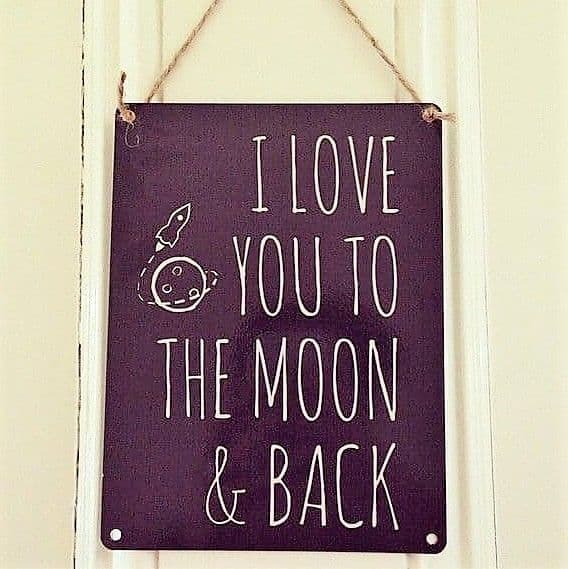 Vintage style - Love You To The Moon & Back