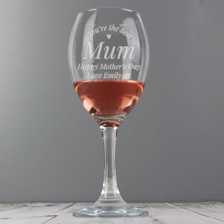 You Are The Best Wine Glass