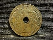French Indo-China, One Cent 1918 A, VF, SP583