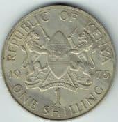 Kenya, One Shilling 1975, VF, WO2371