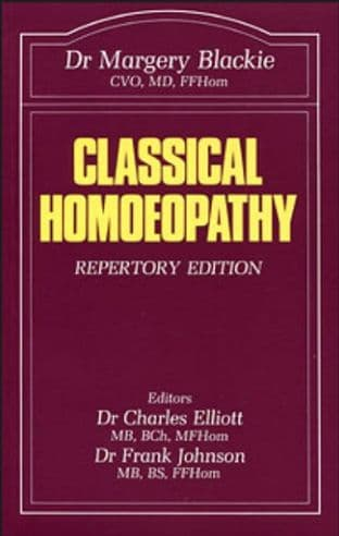 Blackie, Dr M - Classical Homoeopathy