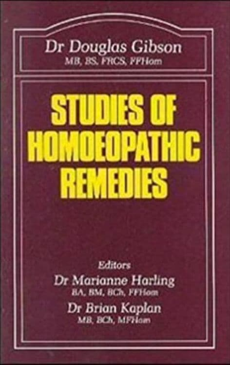 Gibson, Dr Douglas - Studies of Homoeopathic Remedies (2nd Hand)