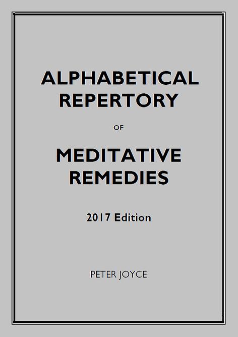 Joyce, Peter - 2017 Repertory of Meditative Remedies (Standard Alphabetical Rubrics)