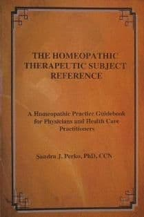 Perko, S - The Homeopathic Therapeutic Subject Reference