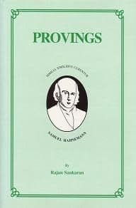 Sankaran, Dr R - Provings