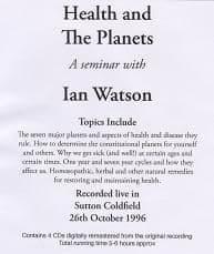 Watson, I - Health & The Planets