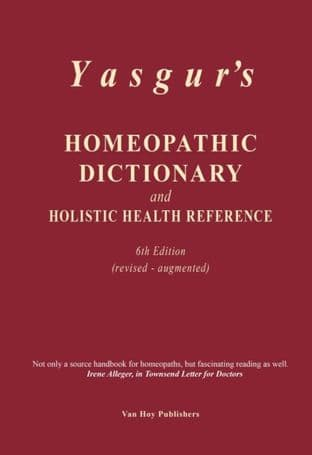 Yasgur, Jay - Homeopathic Dictionary 6th Ed.