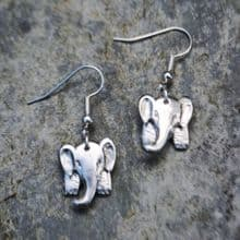 3D Elephant earrings E101
