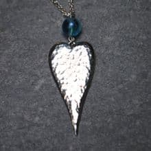 Long heart pendant necklace P54
