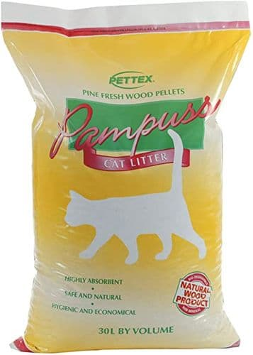 Pampuss Wood Pellet Litter 30L