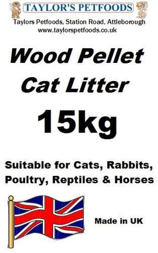 Taylors Wood Pellet Cat Litter - 15kg